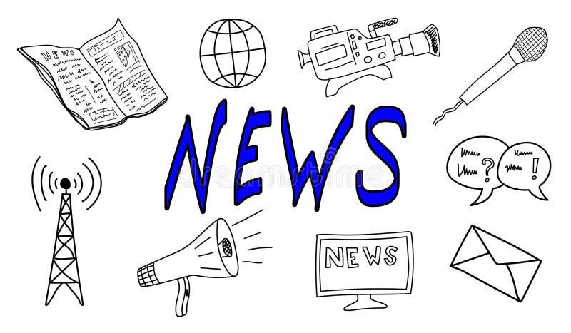 Konzept der Nachrichten lizenzfreie abbildung