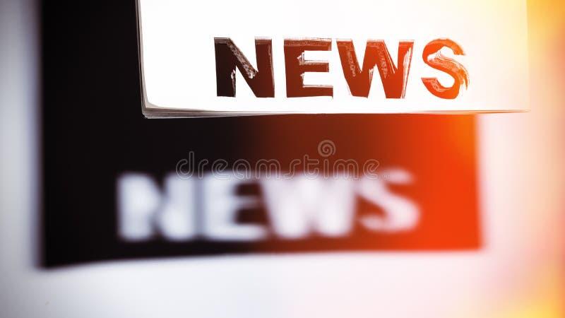 Download Konzept der Nachrichten stockbild. Bild von journalismus - 90237579