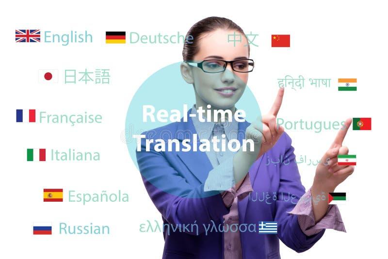 Konzept der Online-Übersetzung von der Fremdsprache lizenzfreie stockbilder