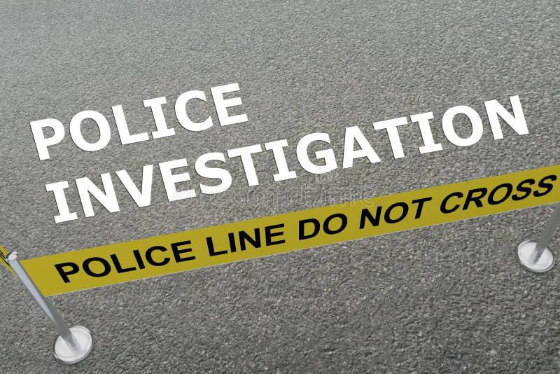 Konzept der polizeilichen Untersuchung lizenzfreie abbildung