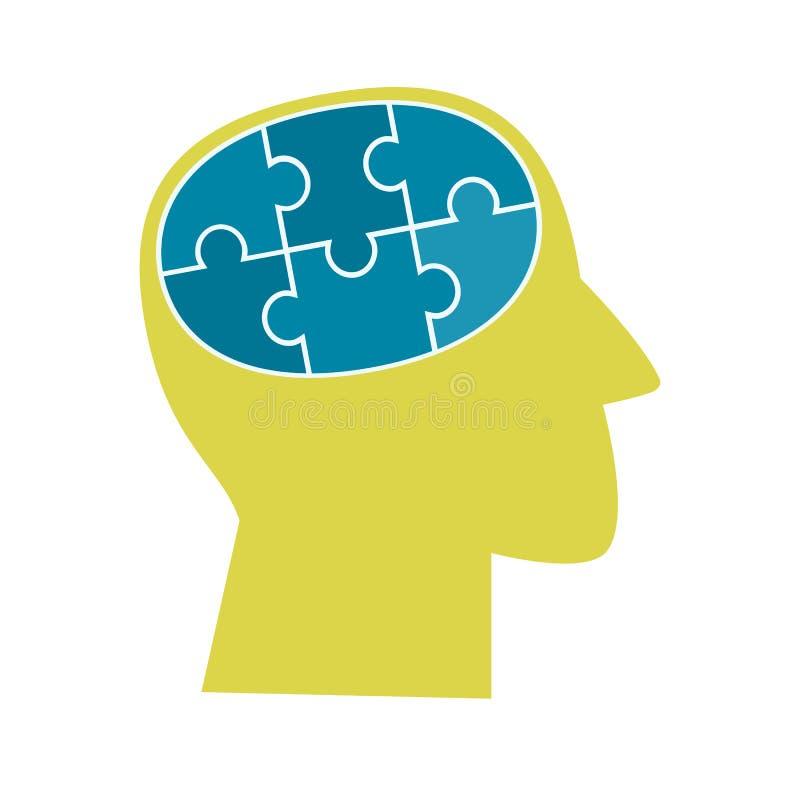 Konzept der psychischen Gesundheit vektor abbildung
