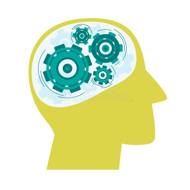 Konzept der psychischen Gesundheit lizenzfreie abbildung