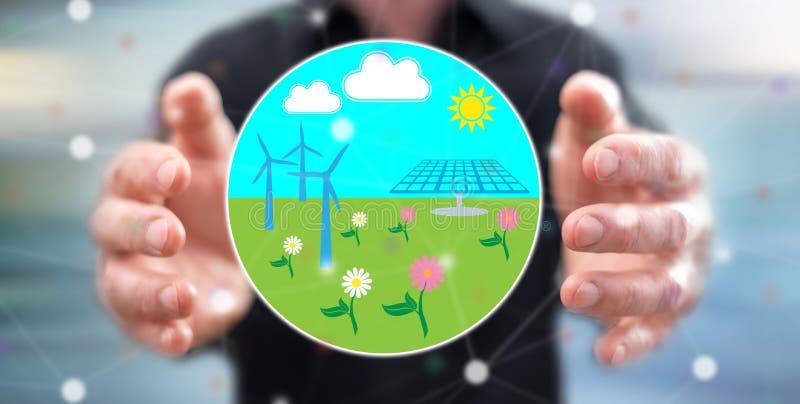 Konzept der sauberen Energie stockfoto