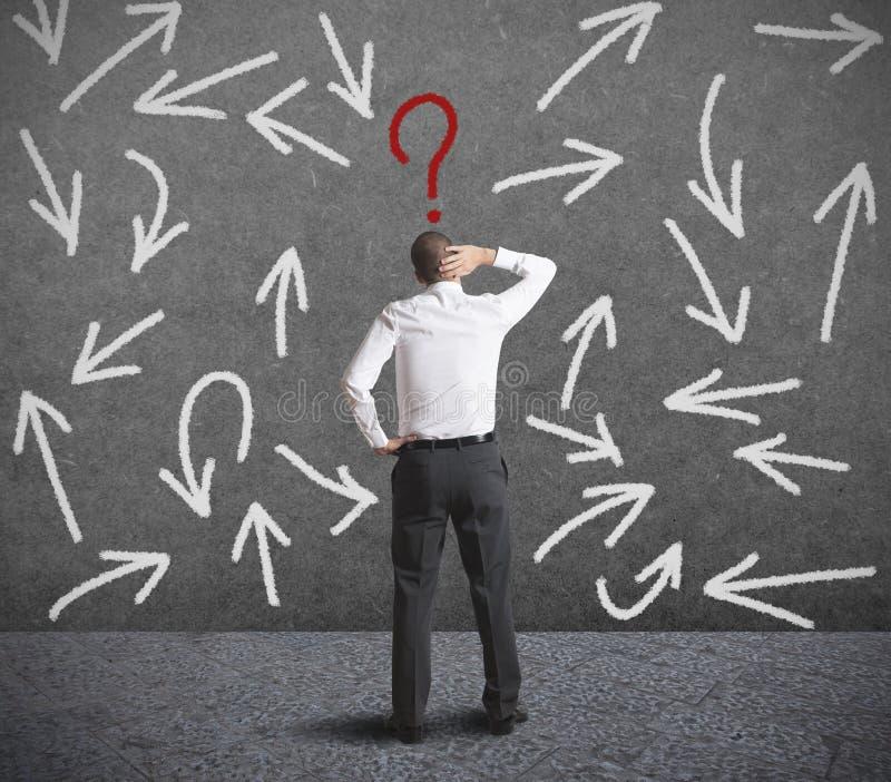 Schwierige Wahlen eines Geschäftsmannes