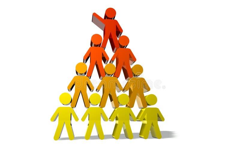 Konzept der Teamwork und der Teilhaberschaft lizenzfreie abbildung