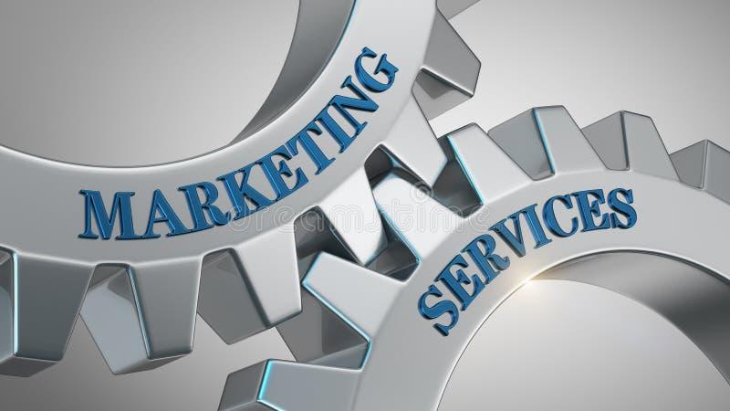 Konzept der vermarktenden Services stock abbildung