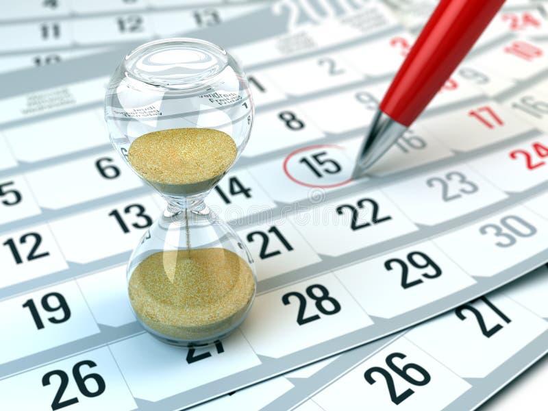 Konzept der Zeit, Kalender, organisierend lizenzfreies stockfoto