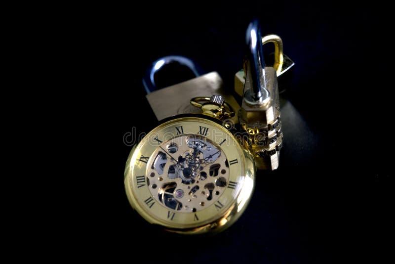 Konzept der Zeit und der Sicherheit stockbilder