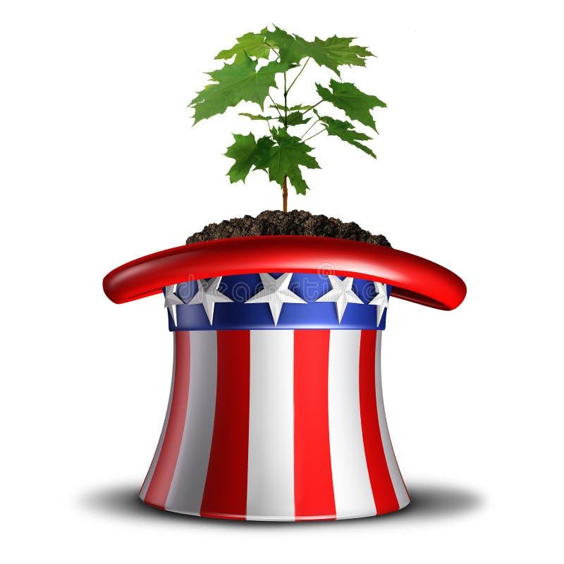 Konzept des amerikanischen Wachstums lizenzfreie abbildung
