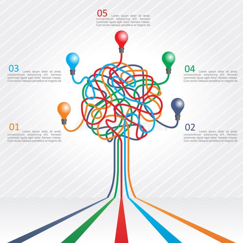 Konzept des bunten Baums für Geschäftsdesign vektor abbildung