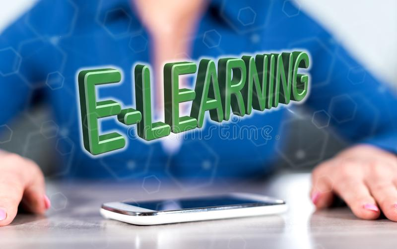 Konzept des E-Learnings lizenzfreie stockfotos
