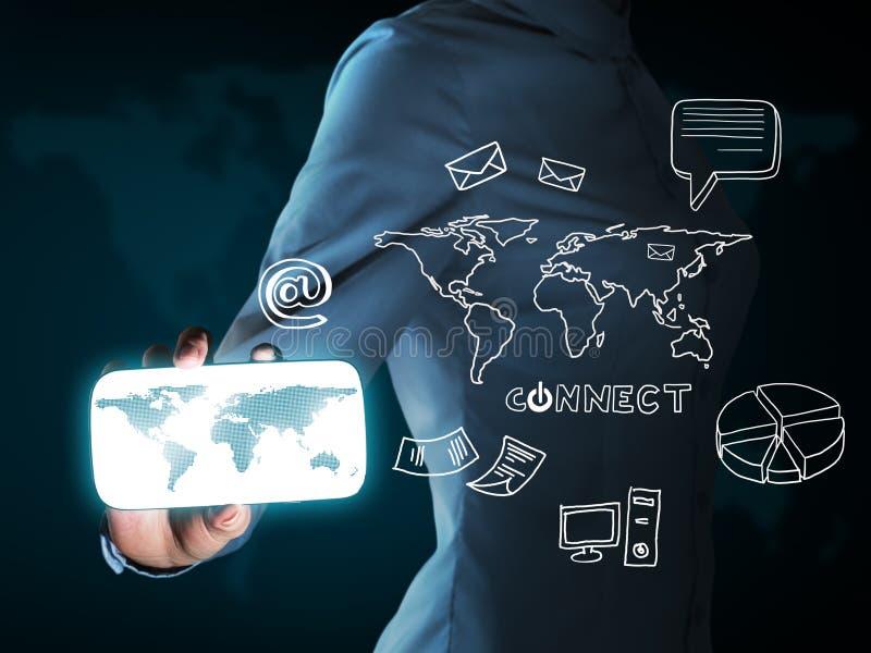 Konzept des elektronischen Geschäfts lizenzfreies stockfoto