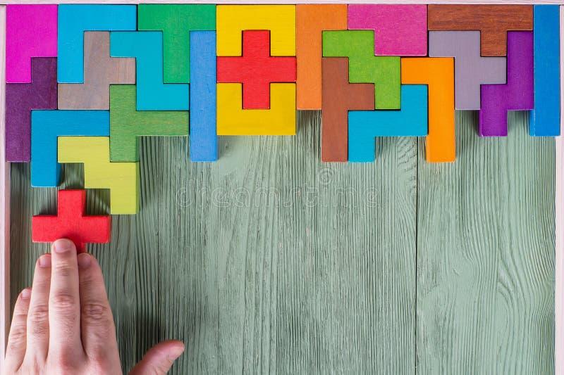 Konzept des Entscheidungsprozesses, logisches Denken Logische Aufgaben lizenzfreies stockbild