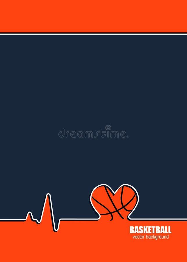 Konzept des Entwurfes für Basketball vektor abbildung