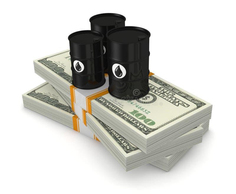 Konzept des Erdölmarkts stock abbildung