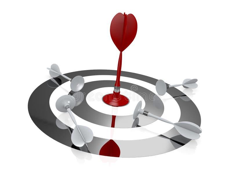 Konzept des Erfolgs und des Wettbewerbs stock abbildung