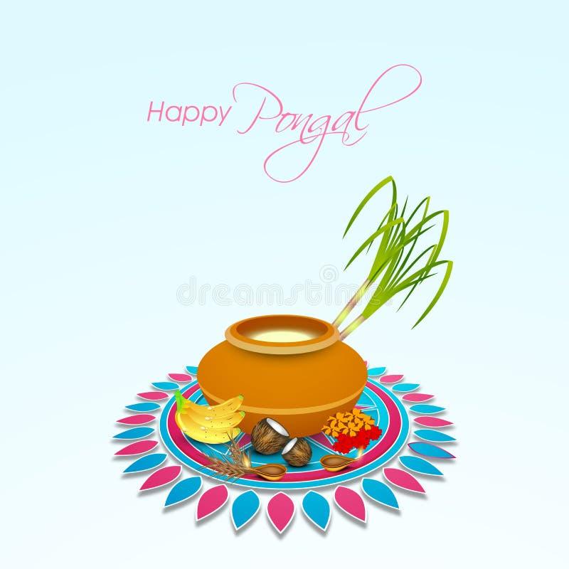 Konzept des Feierns glücklichen Pongal-Festivals stock abbildung