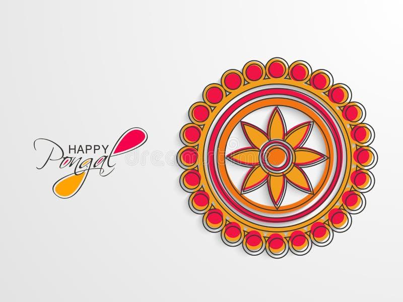 Konzept des Feierns von Pongal-Festival lizenzfreie abbildung