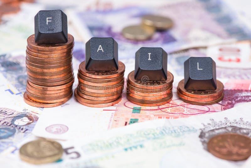 Konzept des Finanzausfallungshintergrundes lizenzfreie stockbilder