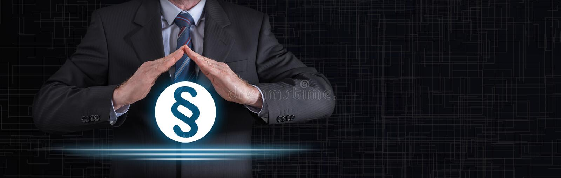 Konzept des Gesetzesschutzes lizenzfreie stockbilder