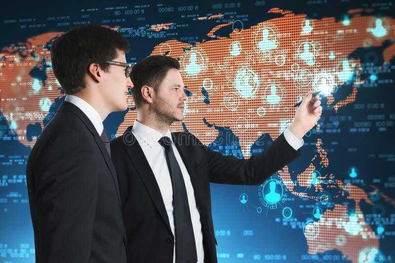 Konzept des globalen Geschäfts und der Kommunikation lizenzfreies stockbild