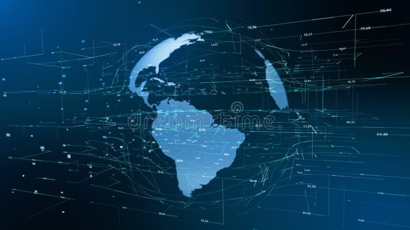 Konzept des globalen Gesch?fts der Erdpartikelbewegung vektor abbildung