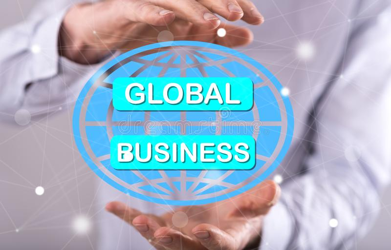 Konzept des globalen Gesch?fts lizenzfreies stockfoto