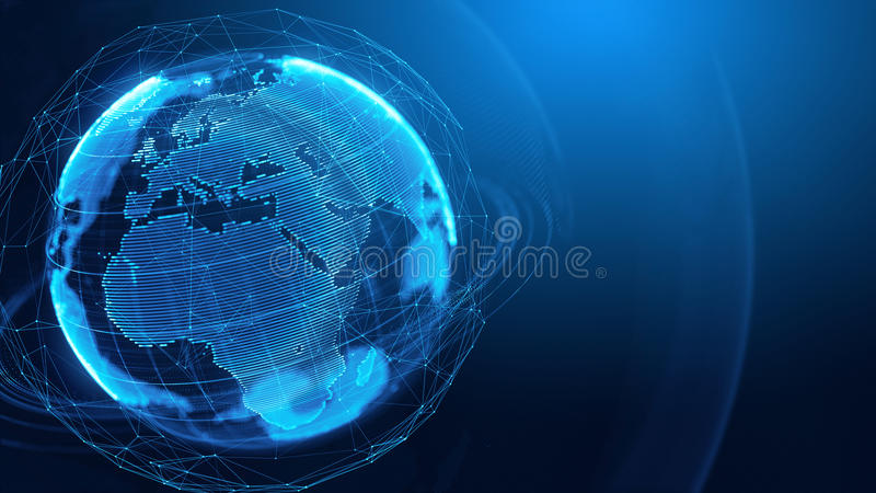 Konzept des globalen Netzwerks, Internet-Kommunikation, Medien techologies stock abbildung