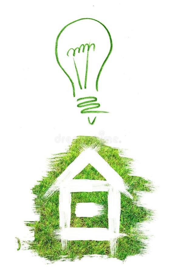 Konzept des grünen Hauses lizenzfreie abbildung