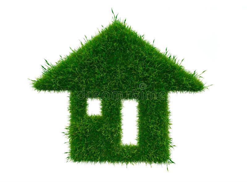 Konzept des grünen Hauses lizenzfreie stockfotos