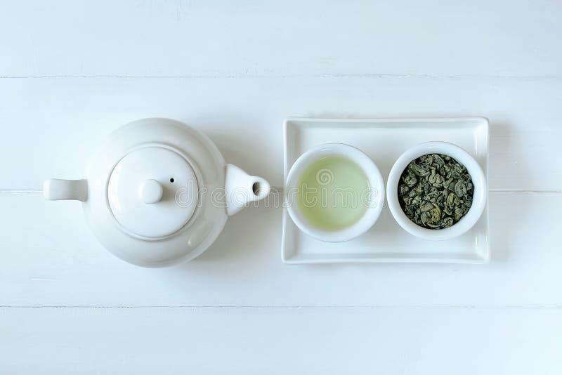 Konzept des grünen Tees stockfotografie