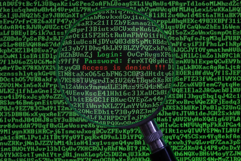 Konzept des Hackers stockfoto