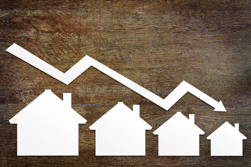 Konzept des Immobilienverkaufsfalles lizenzfreies stockfoto