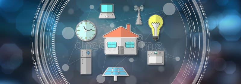 Konzept des intelligenten Hauses stock abbildung