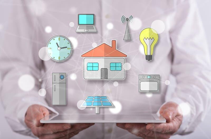 Konzept des intelligenten Hauses lizenzfreies stockfoto