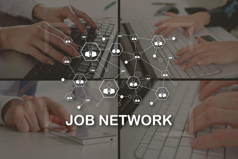 Konzept des Jobnetzes stockfotografie