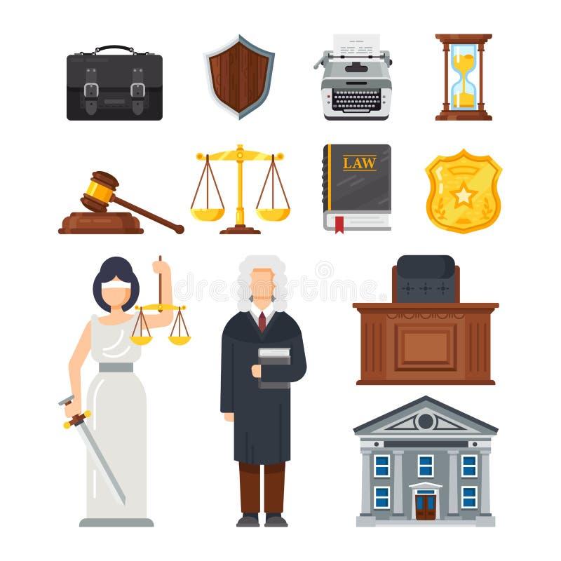Konzept des Justizwesens Gerechtigkeit, Gleichheit, Balance, Rechtsfragen stock abbildung