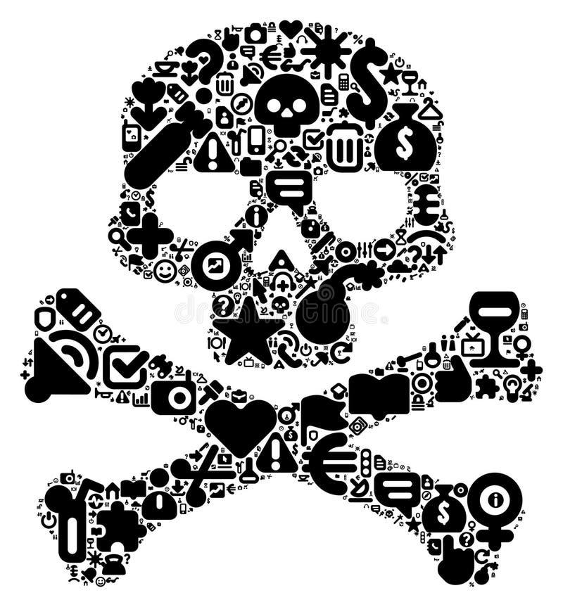 Konzept des menschlichen Schädels lizenzfreie abbildung
