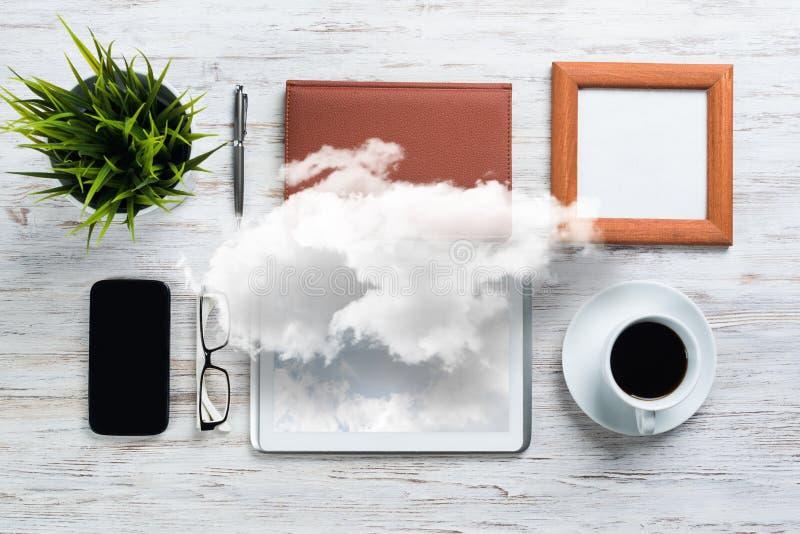 Konzept des modernen Geschäftsarbeitsplatzes stockbild