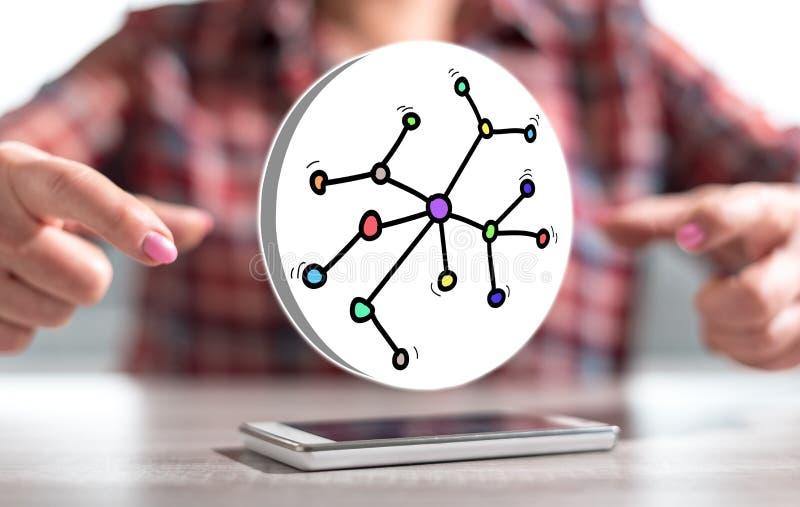 Konzept des Netzes stockbilder