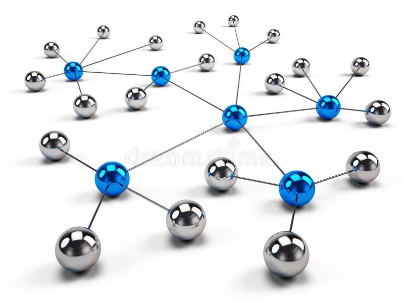 Konzept des Netzes, Social Media, Internet-Kommunikation lizenzfreie abbildung