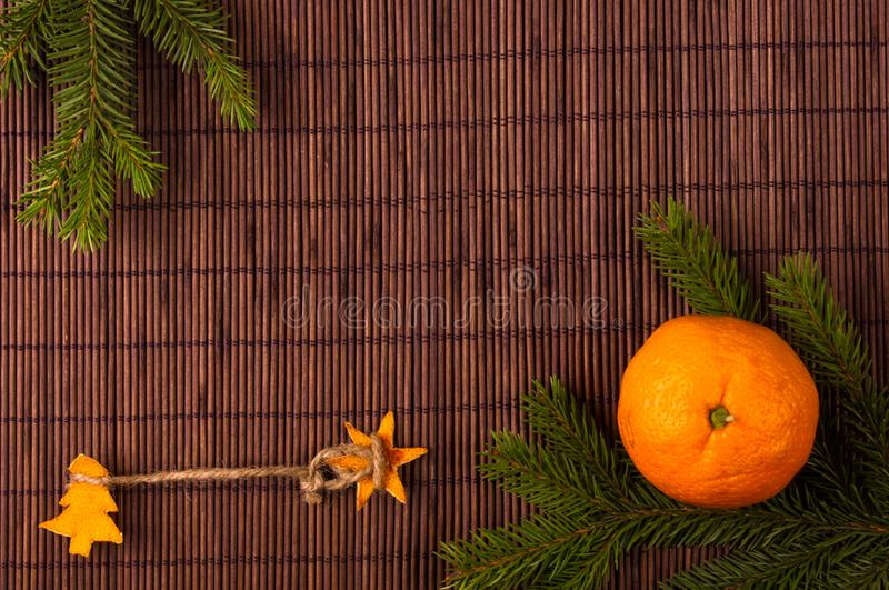 weihnachtsbaum gemacht von der orange stockfoto bild von. Black Bedroom Furniture Sets. Home Design Ideas
