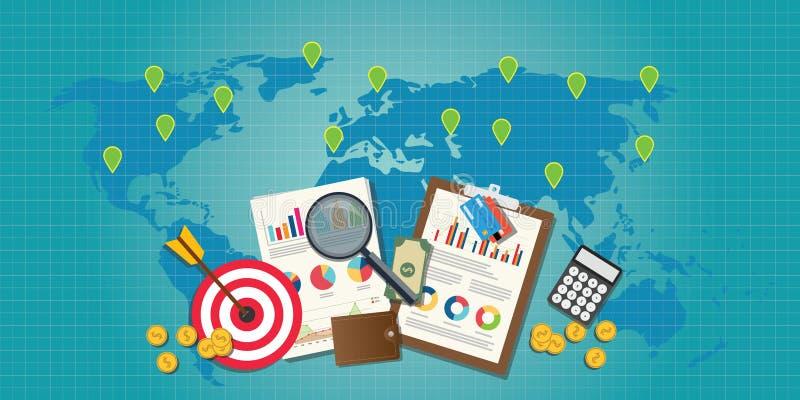 Konzept des neuen Markts mit Diagramm lizenzfreie abbildung