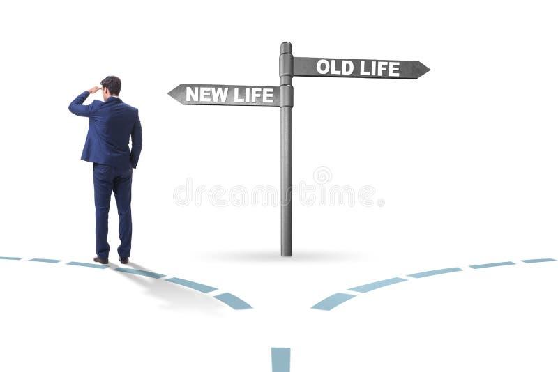 Konzept des neuen und alten Lebens stockfotografie