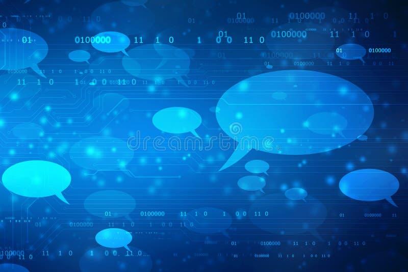 Konzept des Sozialen Netzes, Kommunikation, Schwätzchenkonzept lizenzfreie abbildung