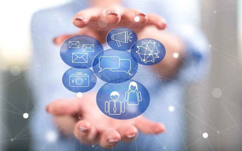 Konzept des Sozialmarketings lizenzfreie stockfotos