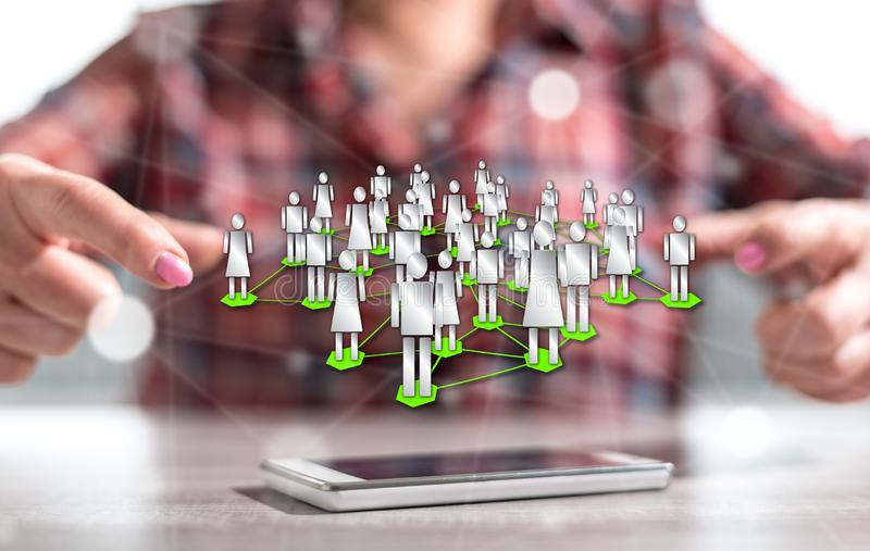 Konzept des Sozialnetzes lizenzfreies stockfoto
