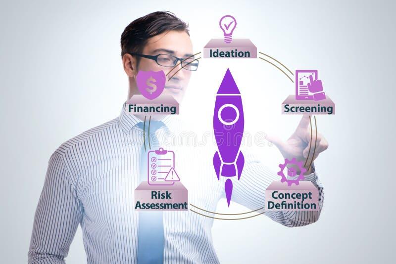Konzept des Starts und des Unternehmergeisten stockfoto