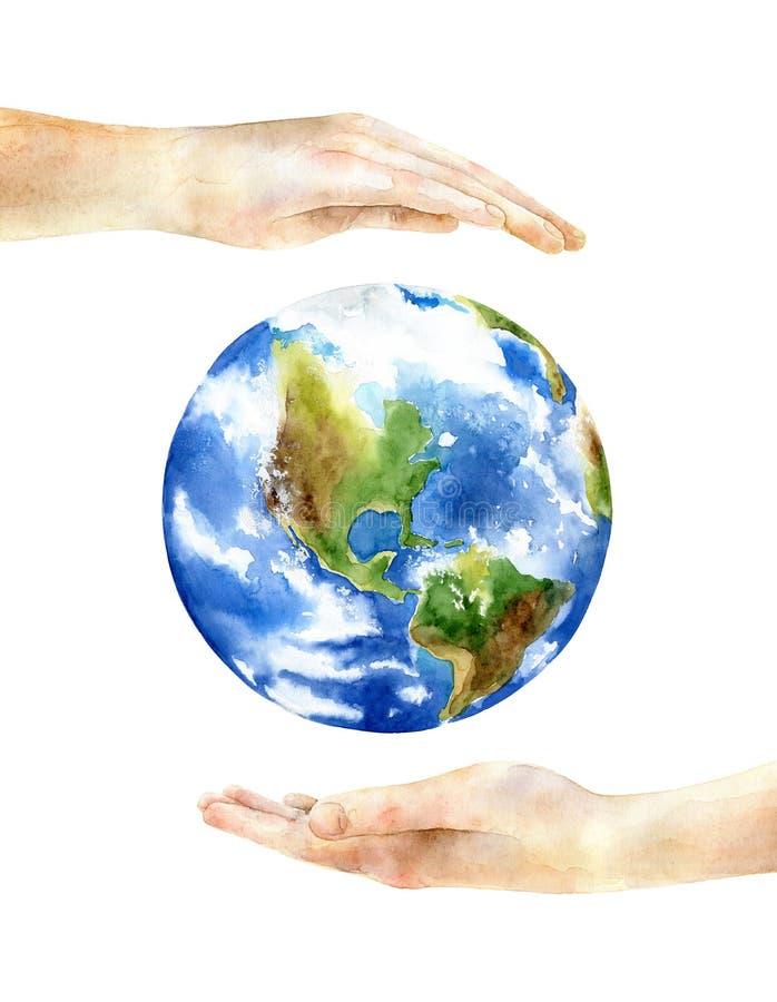 Konzept des Tages der Erde lizenzfreie abbildung