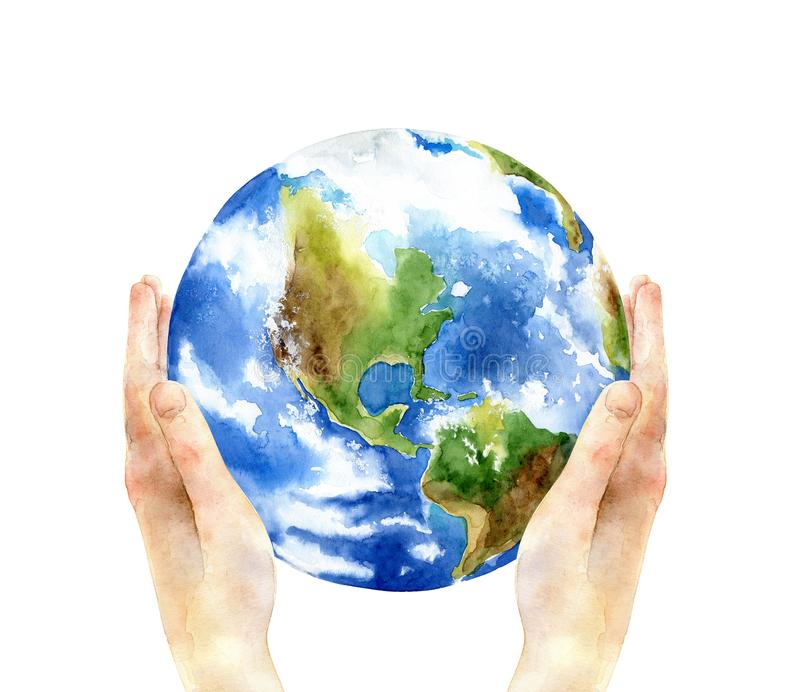 Konzept des Tages der Erde vektor abbildung